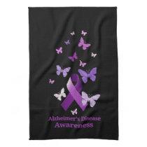 Purple Awareness Ribbon: Alzheimer's Disease Towel