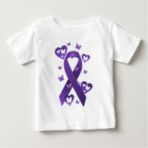 Purple Awareness Ribbon Baby T-Shirt