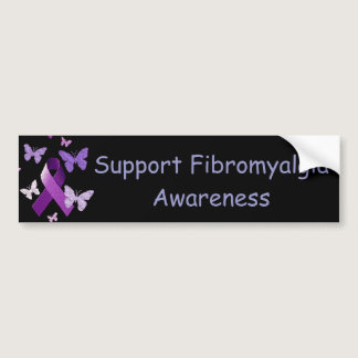 Purple Awareness Ribbon Bumper Sticker