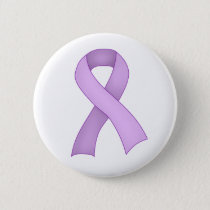 Purple Awareness Ribbon Button 0001