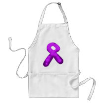 Purple Awareness Ribbon Candle Adult Apron
