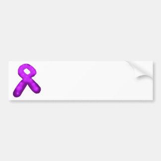 Purple Awareness Ribbon Candle Car Bumper Sticker