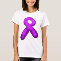 Purple Awareness Ribbon Candle T-Shirt