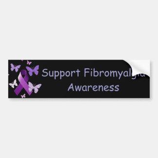 Purple Awareness Ribbon Car Bumper Sticker