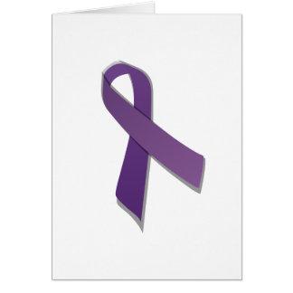 purple awareness ribbon greeting cards
