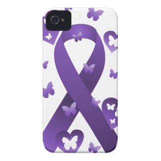 Purple Awareness Ribbon iPhone 4 Cover