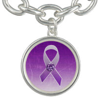 Purple Awareness Ribbon Charm