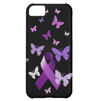 Purple Awareness Ribbon Cover For iPhone 5C