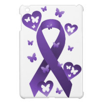 Purple Awareness Ribbon Cover For The iPad Mini