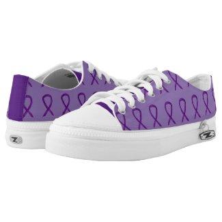 Purple Awareness Ribbon Custom Sneakers