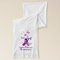 Purple Awareness Ribbon: Cystic Fibrosis Scarf
