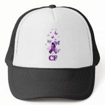 Purple Awareness Ribbon: Cystic Fibrosis Trucker Hat