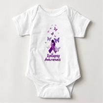 Purple Awareness Ribbon: Epilepsy Baby Bodysuit