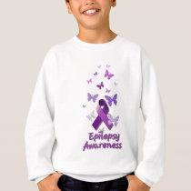 Purple Awareness Ribbon: Epilepsy Sweatshirt