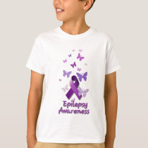Purple Awareness Ribbon: Epilepsy T-Shirt