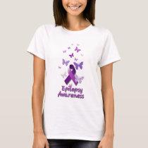 Purple Awareness Ribbon: Epilepsy T-Shirt