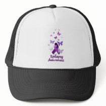 Purple Awareness Ribbon: Epilepsy Trucker Hat