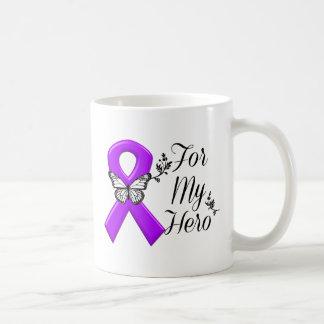Purple Awareness Ribbon For My Hero Coffee Mug