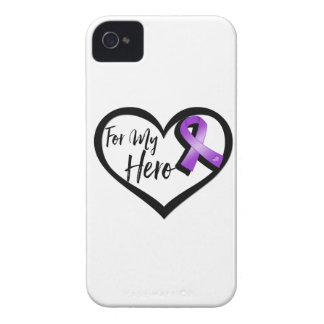 Purple Awareness Ribbon For My Hero iPhone 4 Covers