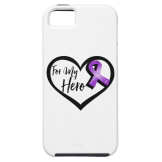 Purple Awareness Ribbon For My Hero iPhone SE/5/5s Case