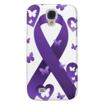 Purple Awareness Ribbon Galaxy S4 Cover