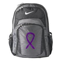 Purple Awareness Ribbon Hope Customized Backpacks