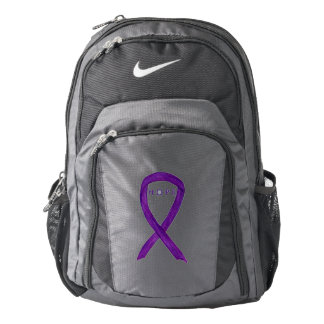 Purple Awareness Ribbon Hope Customized Backpacks