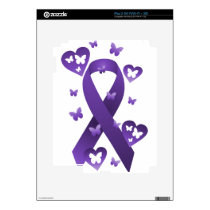 Purple Awareness Ribbon iPad 2 Skin