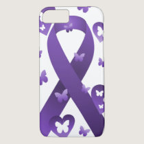 Purple Awareness Ribbon iPhone 7 Case