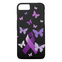 Purple Awareness Ribbon iPhone 7 Case