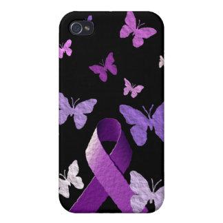 Purple Awareness Ribbon iPhone 4/4S Cases