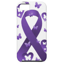 Purple Awareness Ribbon iPhone SE/5/5s Case