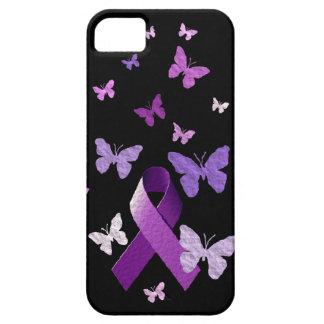 Purple Awareness Ribbon iPhone SE/5/5s Case