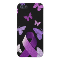 Purple Awareness Ribbon iPhone SE/5/5s Cover