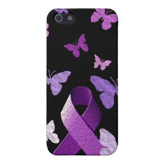 Purple Awareness Ribbon iPhone SE/5/5s Cover