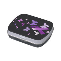 Purple Awareness Ribbon Jelly Belly Tin