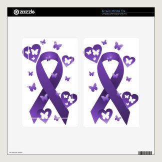 Purple Awareness Ribbon Kindle Fire Decal