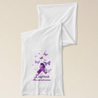 Purple Awareness Ribbon: Lupus Scarf