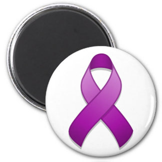 Purple Awareness Ribbon Magnet