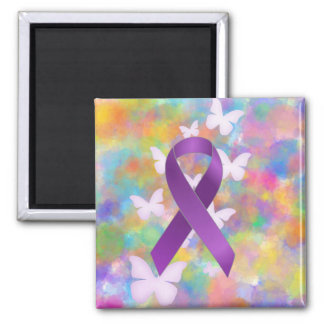 Purple Awareness Ribbon Magnet