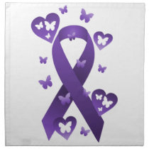 Purple Awareness Ribbon Napkin