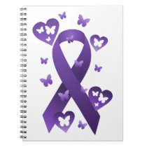 Purple Awareness Ribbon Notebook