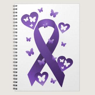 Purple Awareness Ribbon Notebook