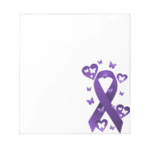 Purple Awareness Ribbon Notepad