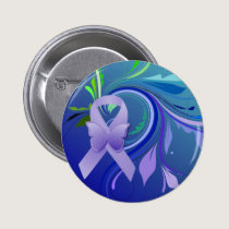 Purple Awareness Ribbon Pinback Button