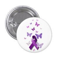 Purple Awareness Ribbon Pinback Button