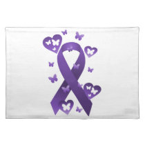 Purple Awareness Ribbon Placemat