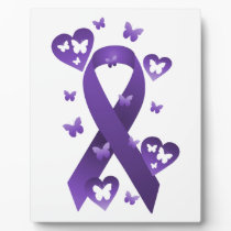 Purple Awareness Ribbon Plaque