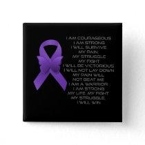 Purple Awareness Ribbon/poem Button