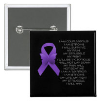 Purple Awareness Ribbon/poem Button